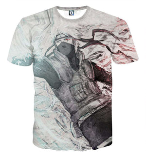 T Shirt 3D - T Shirt All Over 3D Naruto Kakashi