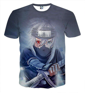 T Shirt 3D - T Shirt All Over 3D Naruto Kakashi Gaiden