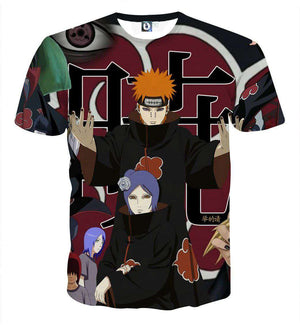 T Shirt 3D - T Shirt All Over 3D Naruto Pain Akatsuki