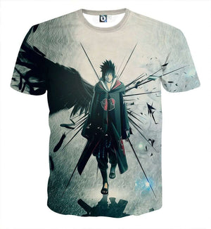 T Shirt 3D - T Shirt All Over 3D Naruto Sasuke Akatsuki