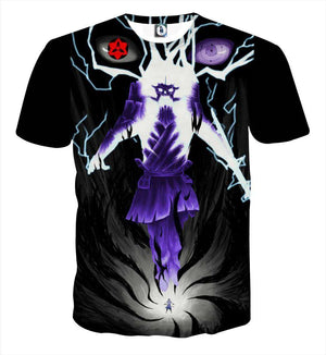 T Shirt 3D - T Shirt All Over 3D Naruto Sasuke Full Power
