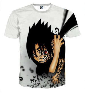 T Shirt 3D - T Shirt All Over 3D Naruto Sasuke Seal