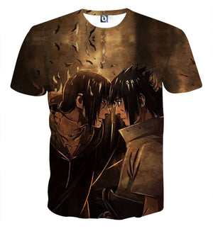 T Shirt 3D - T Shirt All Over 3D Naruto Sasuke X Itachi