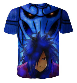 T Shirt 3D - T Shirt All Over 3D Naruto Uchiha Madara Power