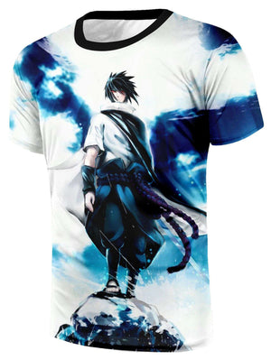 T Shirt 3D - T Shirt All Over 3D Naruto Uchiha Sasuke