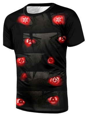 T Shirt 3D - T Shirt All Over 3D Naruto Uchiha Sharingan