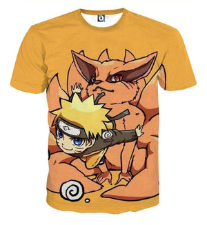 T Shirt 3D - T Shirt All Over 3D Naruto X Kyubi Chibi