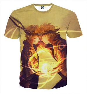 T Shirt 3D - T Shirt All Over 3D Naruto X Yondaime