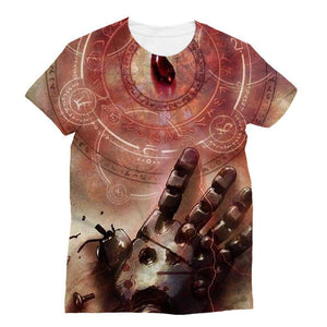 T Shirt 3D - T Shirt All Over Full Metal Alchemist Red Stone