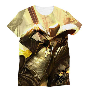T Shirt 3D - T Shirt All Over One Piece Mihawk