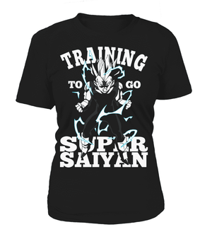 T Shirts Femme - T Shirt Femme Dragon Ball Z Vegeta Training To Go Super Saiyan