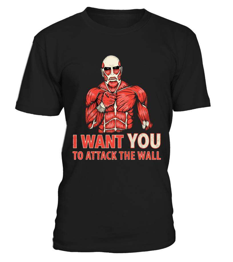 T Shirts Homme - T Shirt Attack On Titans Attack The Wall