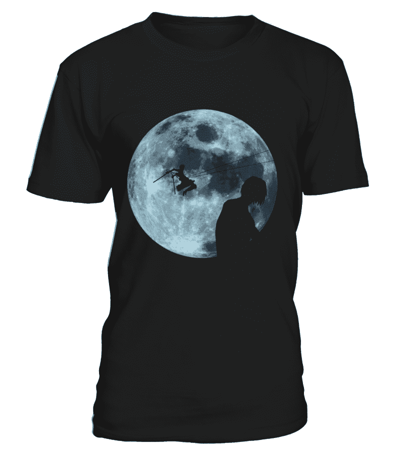 T Shirts Homme - T Shirt Attack On Titans Moon