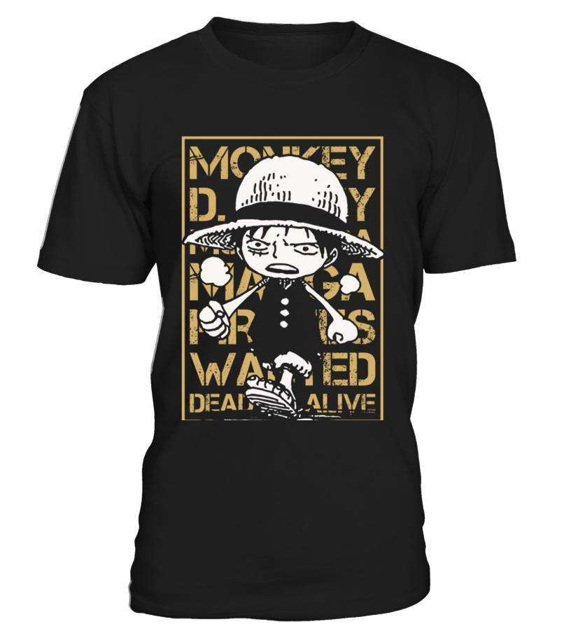T Shirts Homme - T Shirt One Piece Luffy Wanted