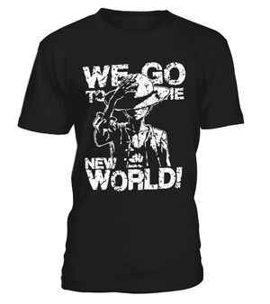T Shirts Homme - T Shirt One Piece Luffy We Go To The New World