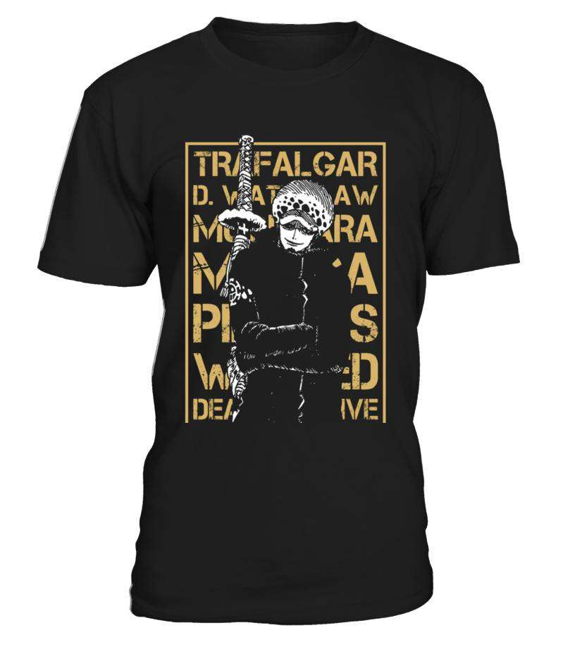 T Shirts Homme - T Shirt One Piece Trafalgar Law Wanted