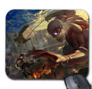 Tapis De Souris - Tapis De Souris Attack On Titan Mikasa Vs Colossal Titan