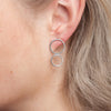 Earrings - Shape on Shape - Just four circles