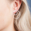 Earrings - Shape on Shape - 2 big/2 small circles