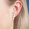 Earrings - Shape on Shape - 3 discs (one gold)