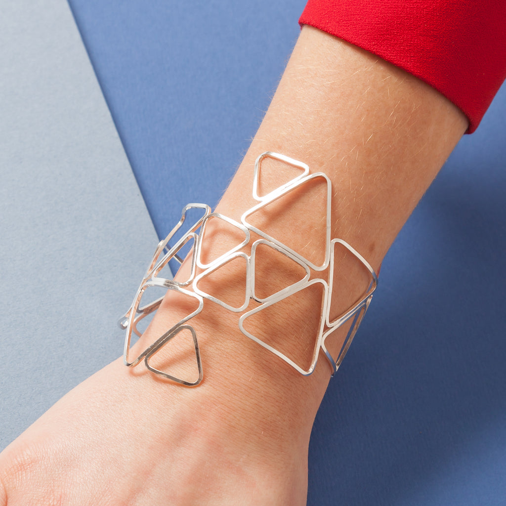 Bracelet - Shape on Shape - Cuff of Mixed Triangles