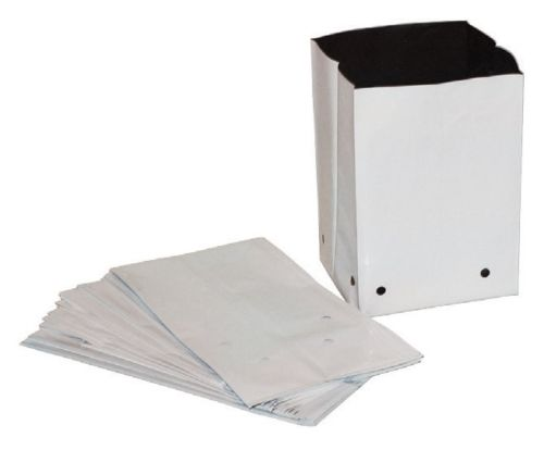500 3 gallon white Polyethylene Grow bags with drainage 5.5mil