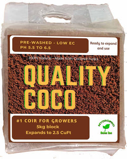 5kg Quality Coco Coir Block - wrapped - single