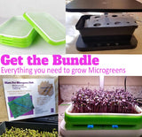 Micro Farm plus MicroPro Seed Trays plus Jute Pad Bundle Microgreen System