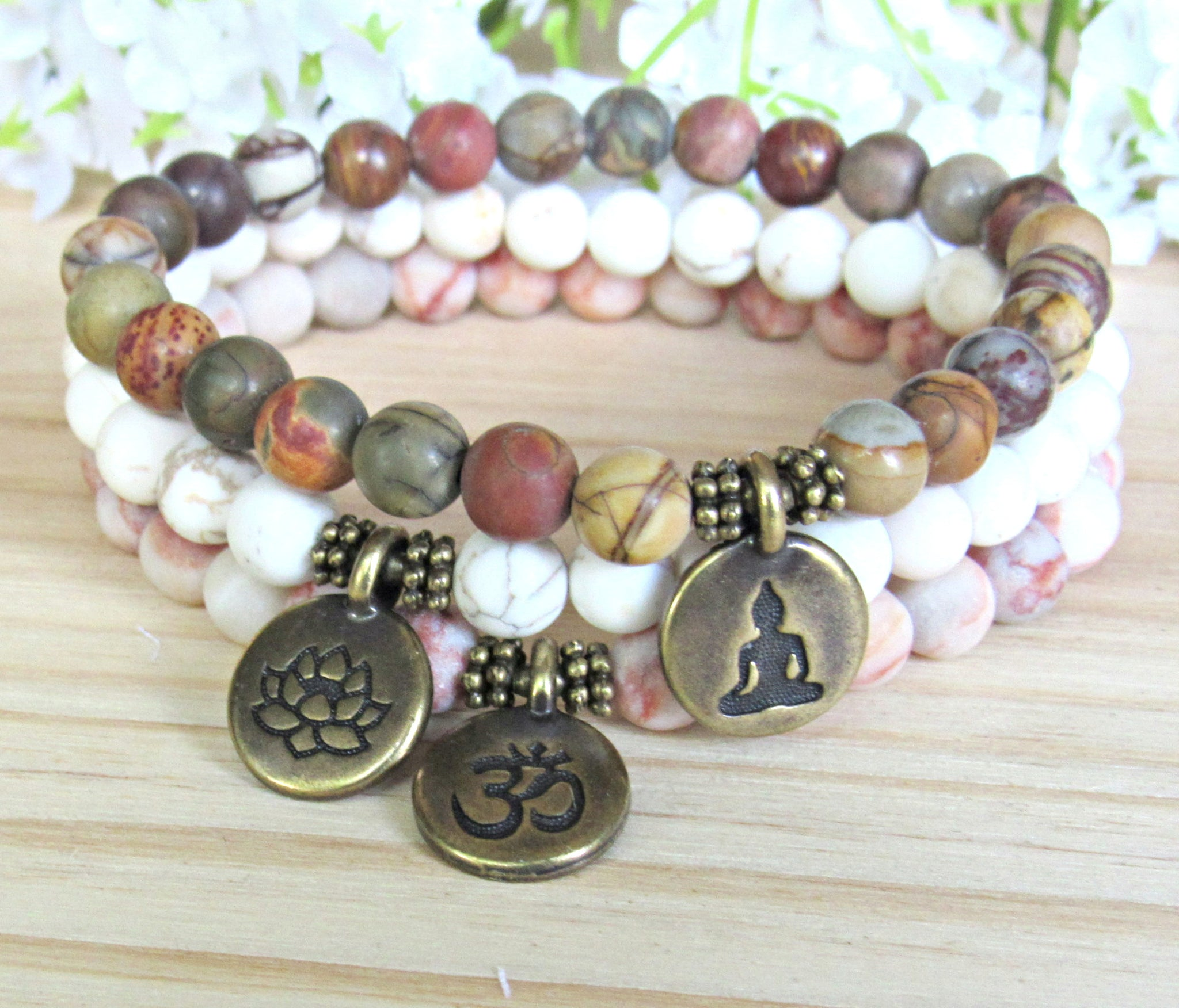 f80347814dc28d buddha bracelet, healing, lotus mala, set of 3, bronze, calming. buddha  bracelet, healing, lotus mala, set of 3, bronze, calming