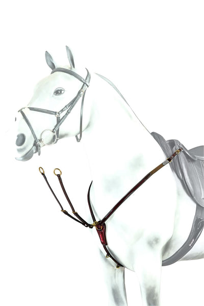 Equipe V Check Patent Leather Breastplate (BP15)