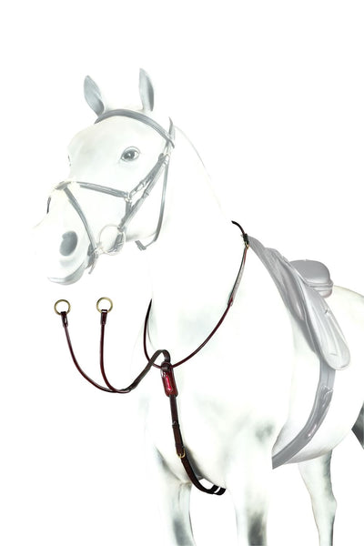 Equipe Rolled Patent Leather Running Martingale (BP17)