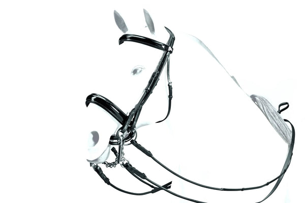 Equipe Patent Leather Weymouth Bridle (BR31)