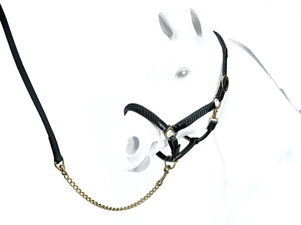 Equipe Leather Halter with Braiding (BR19)