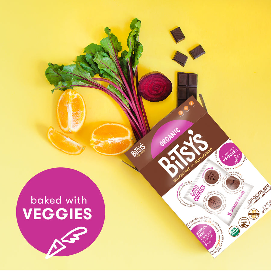 Bitsy's Chocolate Good Cookies are baked with organic vegetables