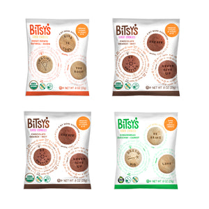 Four bags of Bitsy's Good Cookies as part of the trial bundle