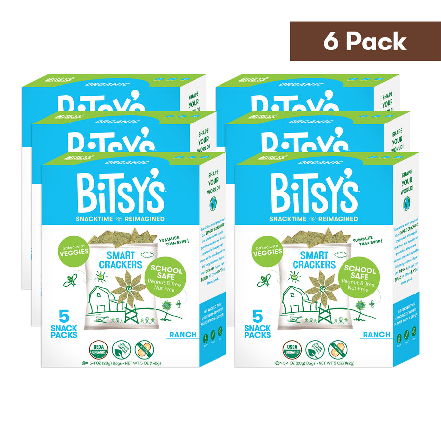 Six boxes of Bitsy's Ranch Smart Crackers
