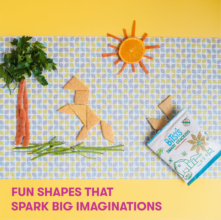Bitsy's Ranch crackers are baked into fun shapes that spark big imaginations