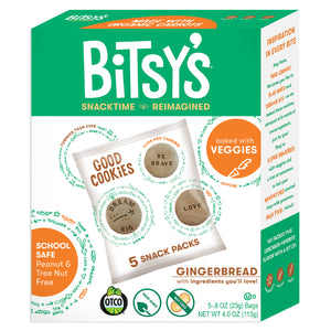 Bitsy's Gingerbread Good Cookies are baked with vegetables and school safe