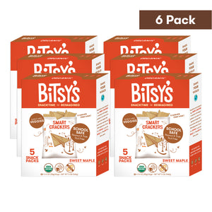 Six boxes of Bitsy's Sweet Maple Smart Crackers