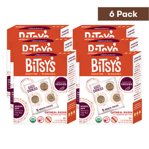 Six boxes of Bitsy's Oatmeal Raisin Good Cookies