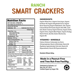 Nutrition and ingredient information for Bitsy's Ranch Smart Crackers