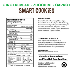 Gingerbread Zucchini Carrot Smart Cookies