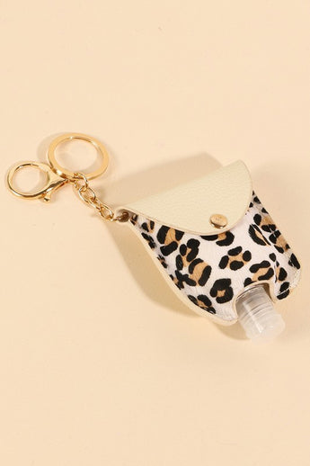 Sanitizer with Leopard Case