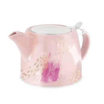 Pink Ceramic Teapot and Infuser