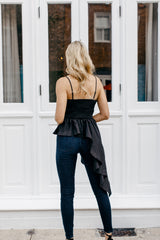 Posh Asymmetrical Peplum Top