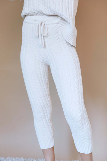 White Winter Lounge Pants