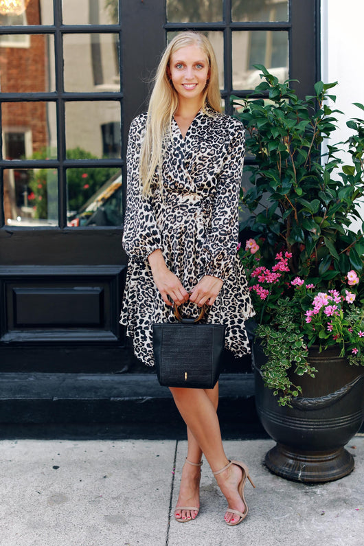 Wrap Me Up Leopard Dress