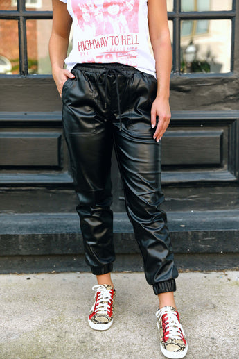 Leather Weather Joggers