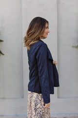 Zip It Navy Moto Jacket