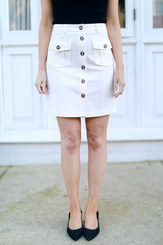 Button Babe Skirt